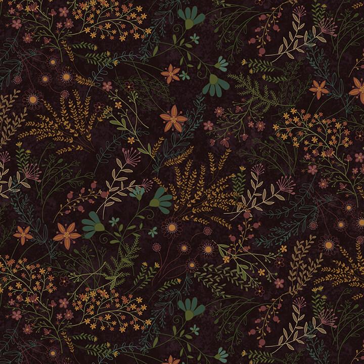 Best of Days - Dark Purple Allover Flower