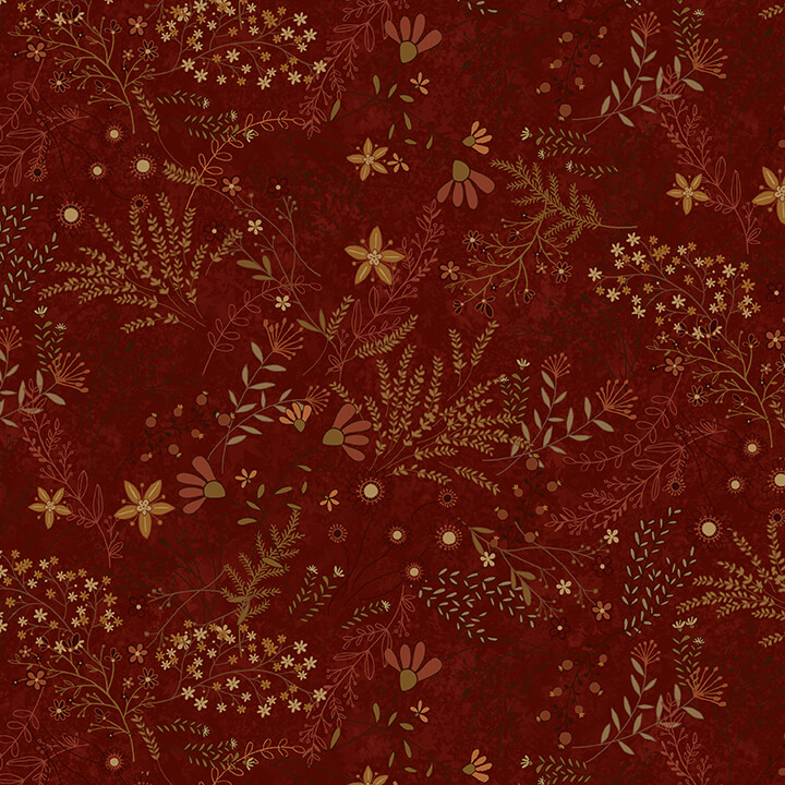 Best of Days - Red Allover Flower