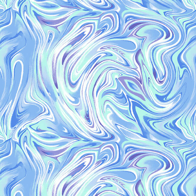 SPECIALTY FABRICS:  Marbled Blue:  Dragonfly Garden by Color Principle for Henry Glass & Co.