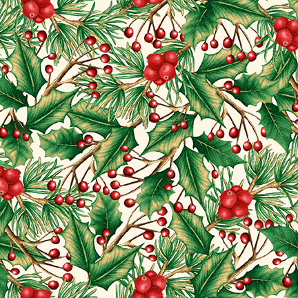 Hometown Holiday Cream Holly