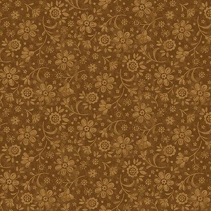Gold Tonal Calico:  Plant Kindness by Janet Nesbitt for Henry Glass & Co.