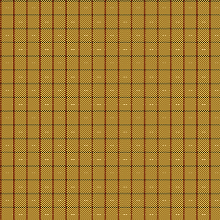 Plant Kindness - Gold Plaid Dobby Yarn Dye