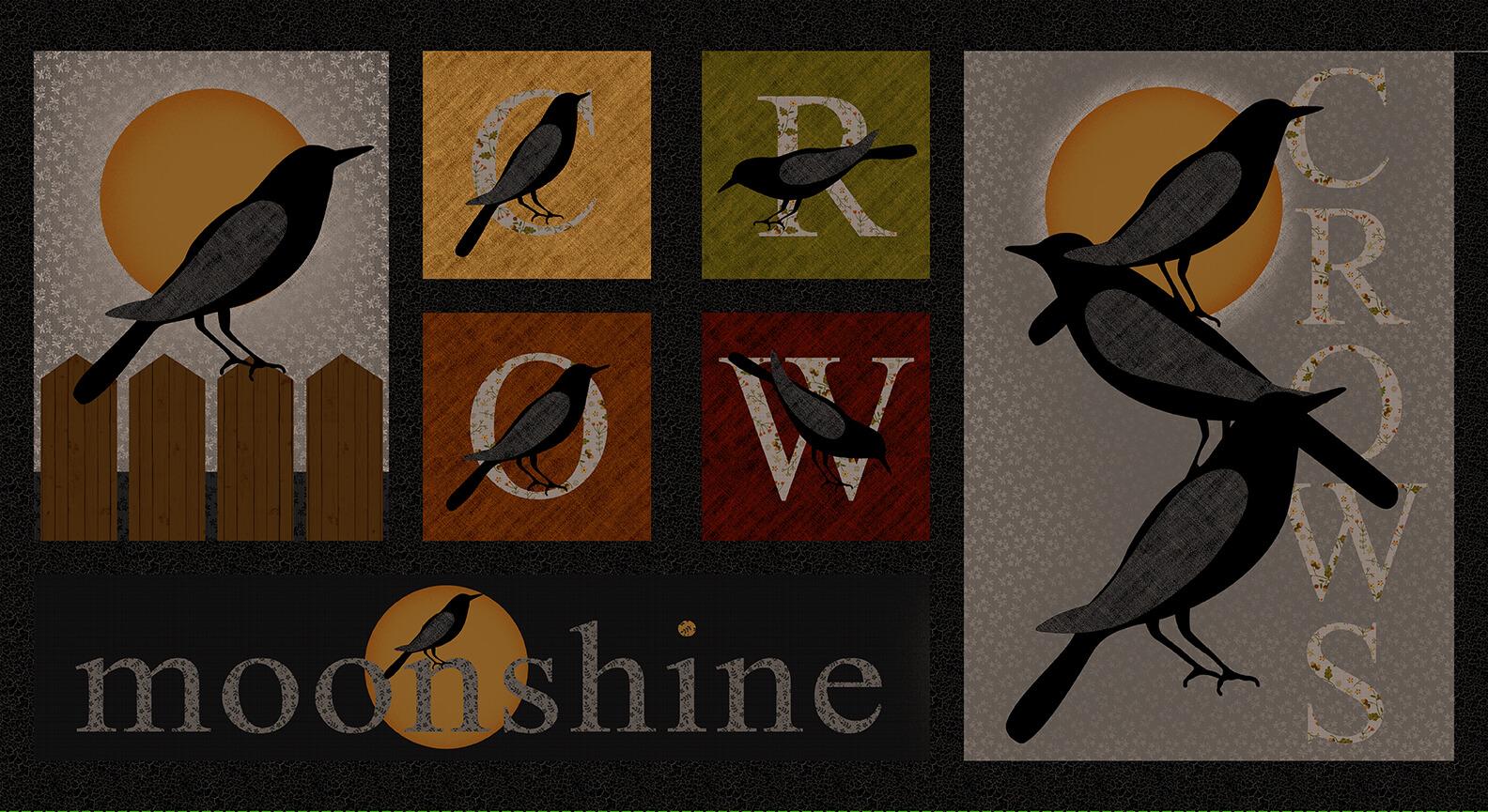 Moonshine Crow Blocks Black