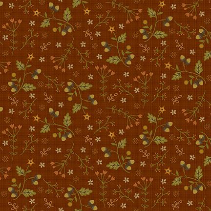 Moonshine Acorns and Flowers 2530-35 Pumpkin