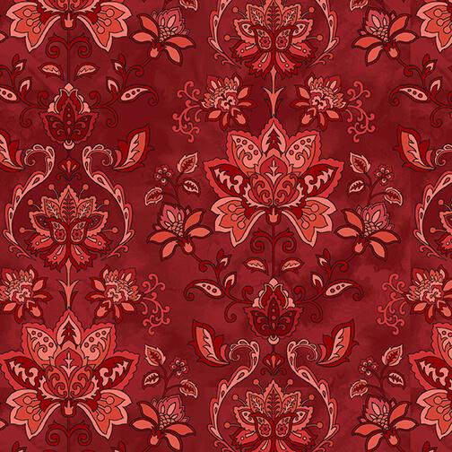 2657-88 Red Jacobean Joyeux