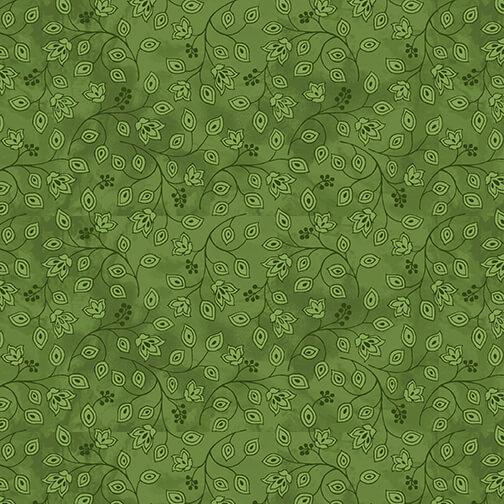 Jacobean Joyeux Mini Bud Monotone 2659-66 Green