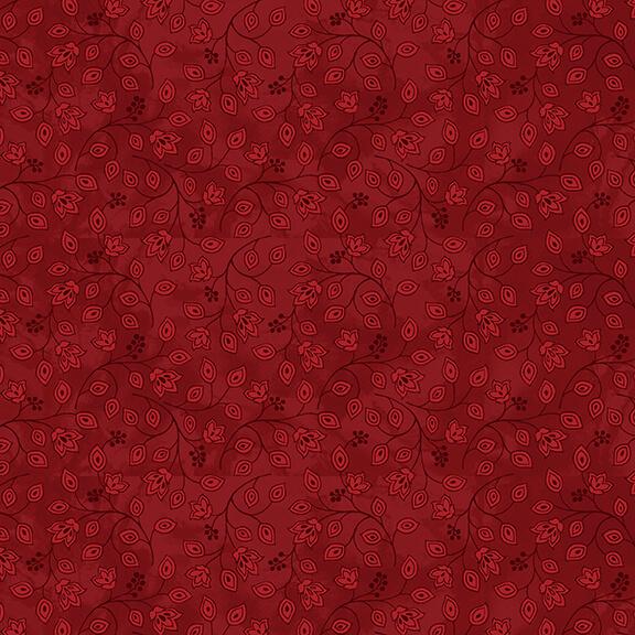 2659-88 Red Jacobean Joyeux