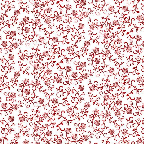 Scarlet Stitches & White Linen 2702-18