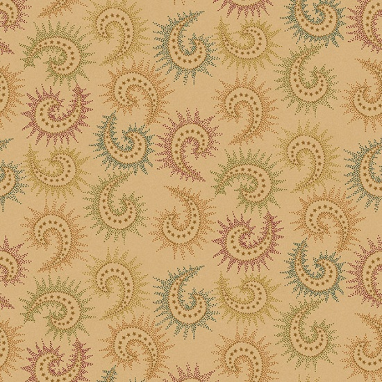 Spiced Paisley 108 Quilt Backing - Tan