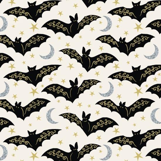 Midnight Spell White Bat Mettallic 6954M-44