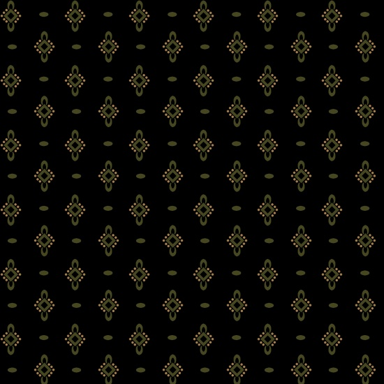 Ebony & Onyx Green Diamonds and Ovals-Black
