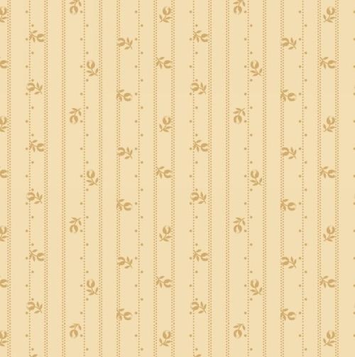 Linen Closet Floral Stripe on Cream
