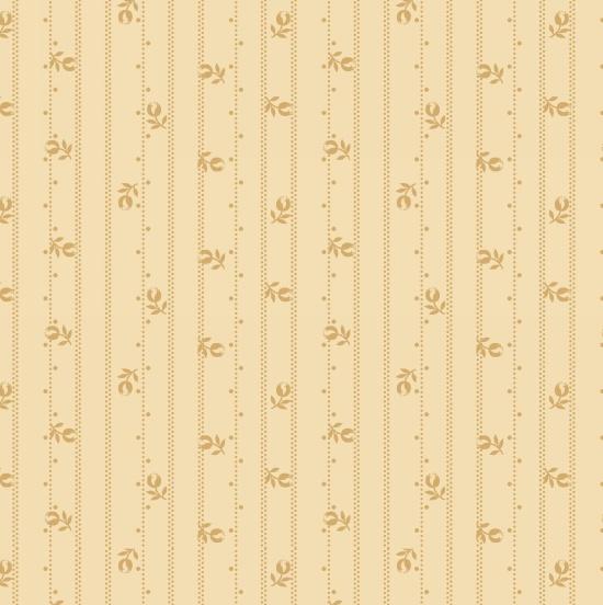 Linen Closet - Floral Stripe - Cream