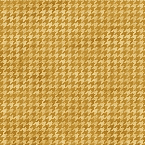 Hounds Tooth B 8624-33 Gold
