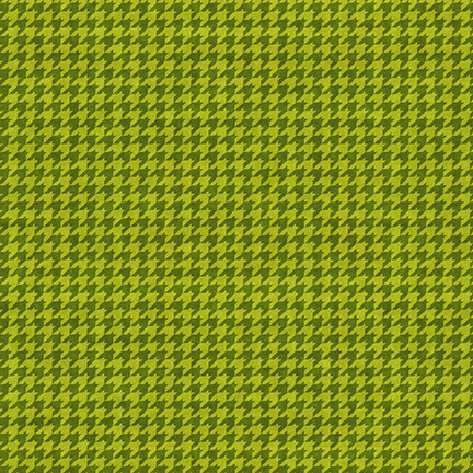 Houndstooth/Lime Green