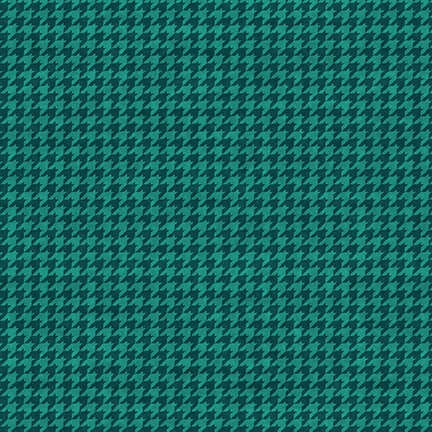 Hounds Tooth 8624-78 New Teal