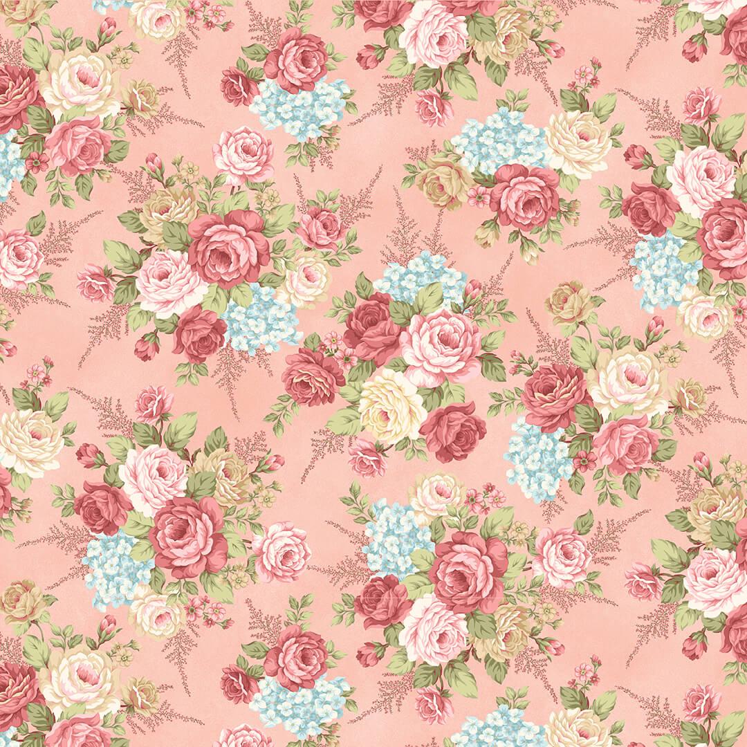 Blush Floral Flannel