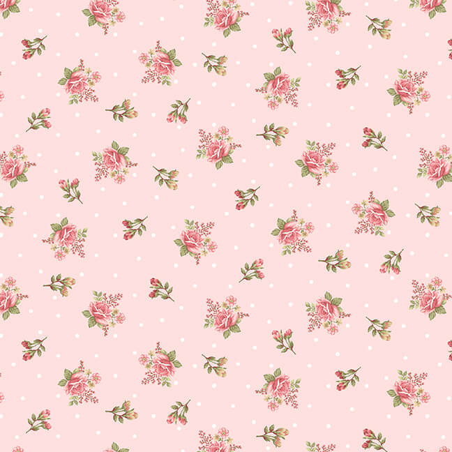 8696-22 Blush Small Floral Flannel