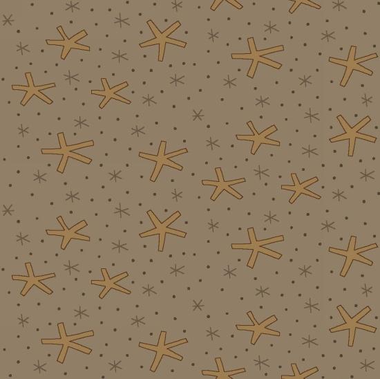 Henry Glass - Celebrating Christmas - Large Snowflakes - Taupe