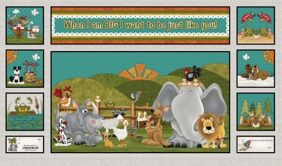 F-PL-HGL-WAB-02 Henry Glass-WAB-When I Am Big-02-11 - Animals Panel
