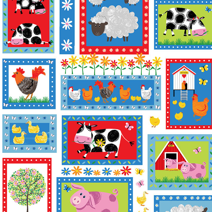 Best Friends Farm 9022-1 White Patchwork Animals