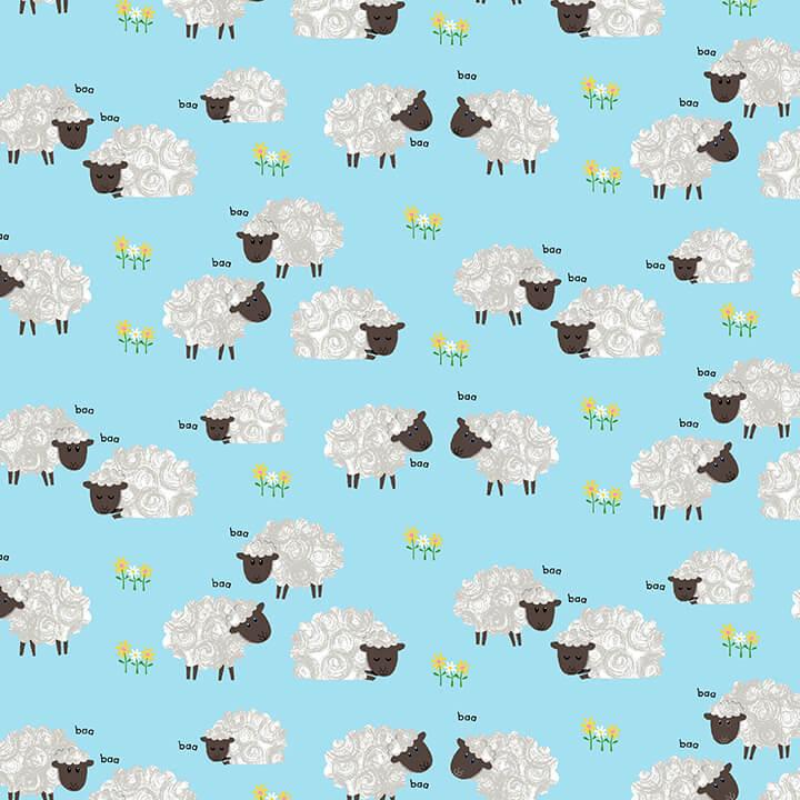 Best Friends Farm 9025-11 Light Blue sheep