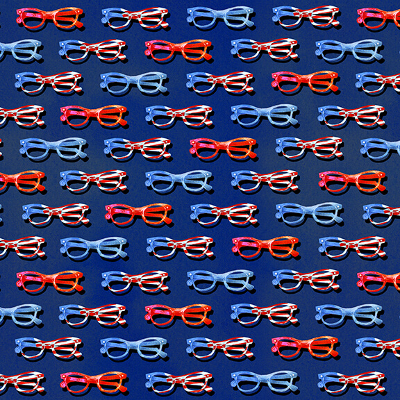 Star Spangled 9028-77 Navy Eye Glasses