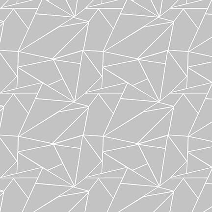 Geometric Lines - 9046-19 Gray