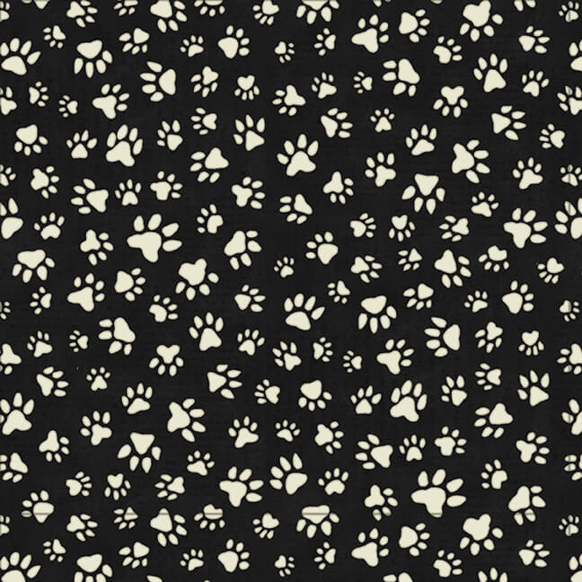 Love and a dog / 9054-99 Black paw print