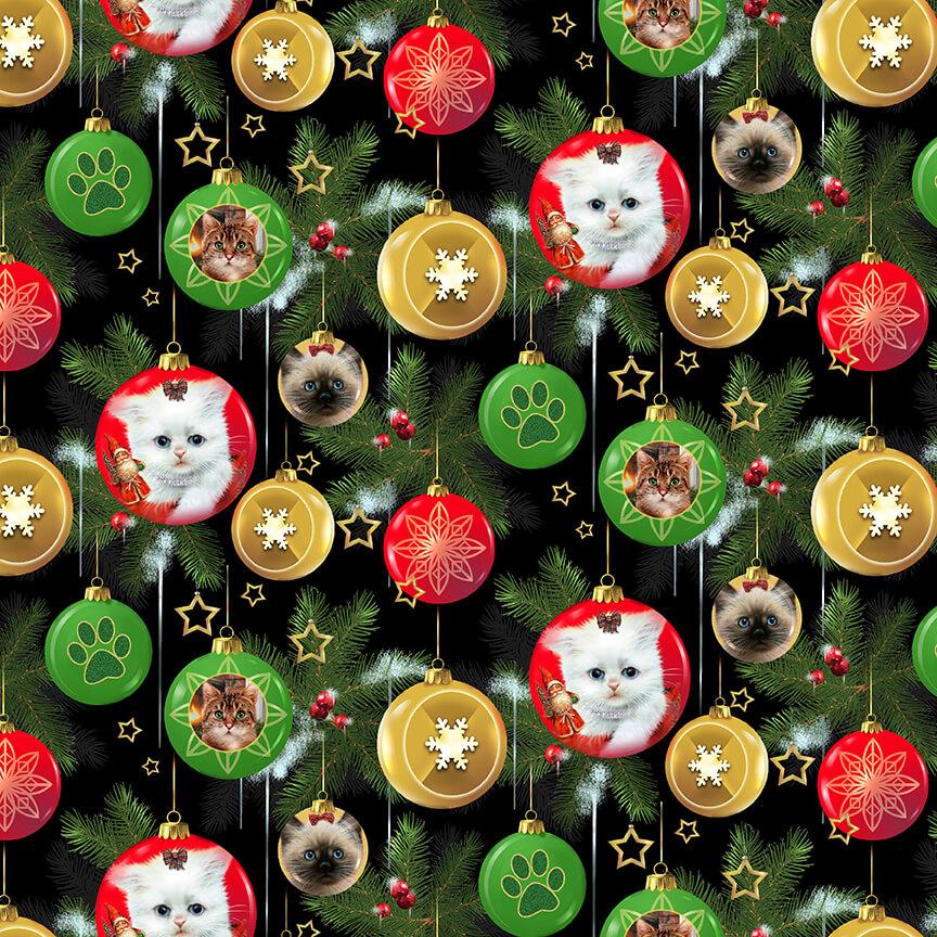 Henry Glass & Co. Fireside Kittens 9058-99 Black Kitten Ornaments