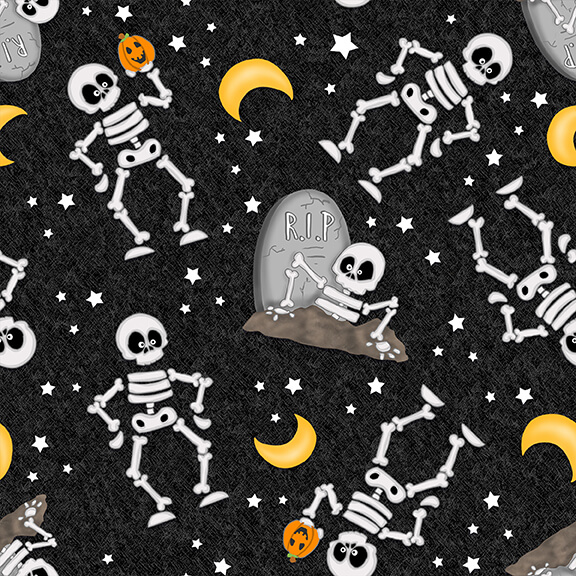 GLOW SKELETON - BLACK