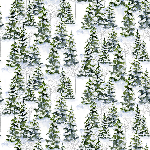 Henry Glass & Co. Snowy Woods 9086-6 Green