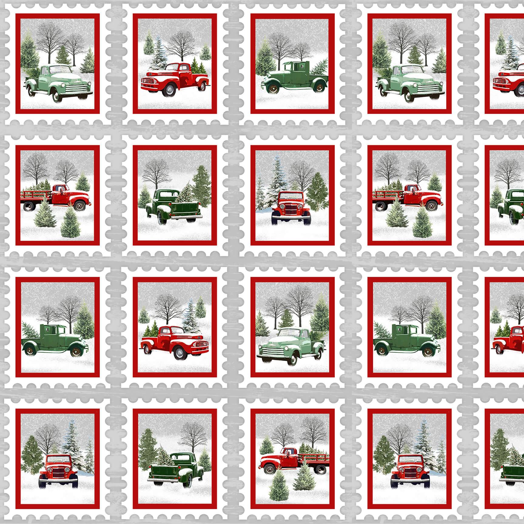 9097-98 Gray/Red Holiday Heartland