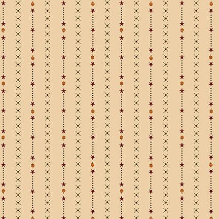 Henry Glass October Morning by Kim Diehl 9143-44 Cream Harvest Stripe