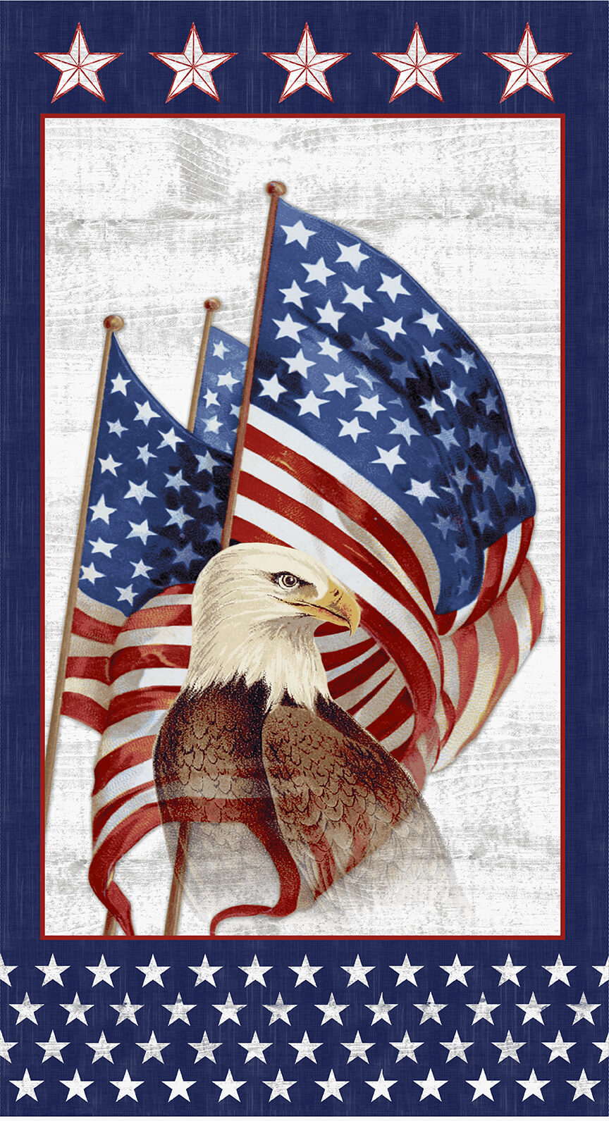 Eagle/flag panel