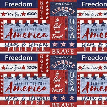 Live Free Blue Small Patch