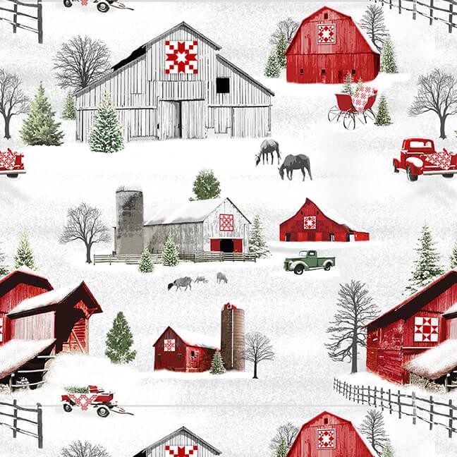 9211-98 Gray/Red Holiday Heartland
