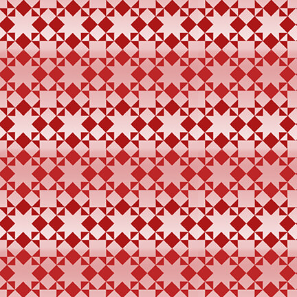 Red Small Monotone Quilt Pattern