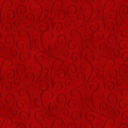 Holiday Heartland Tonal Swirl - Red