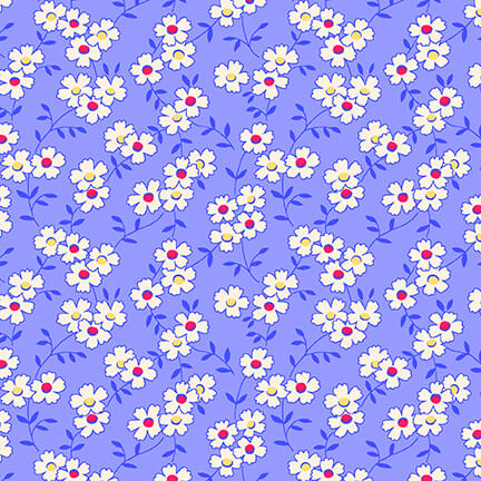 Nana Mae IV - Blue Multicolored Daisy