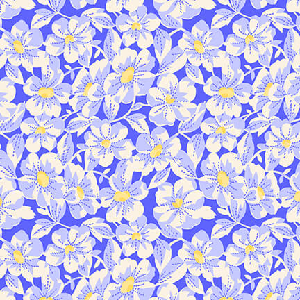 Blue Large Daisy 1930's Reproduction