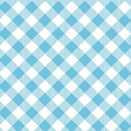 9300-11 Blue/White Priscillas Plaids