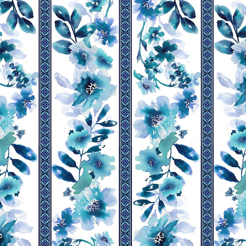 Midnight Sapphire Wallpaper Stripe