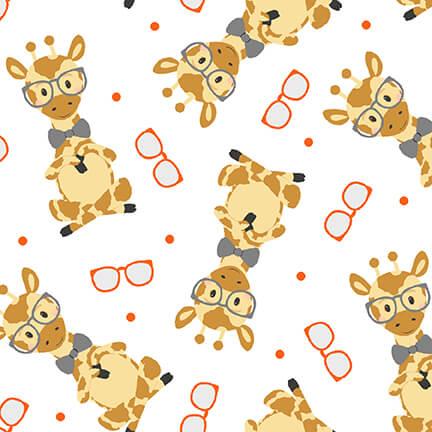 9564-03 Wild and Free White Giraffe Toss