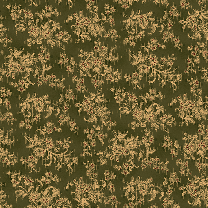 Green Stylized Floral 9676 66