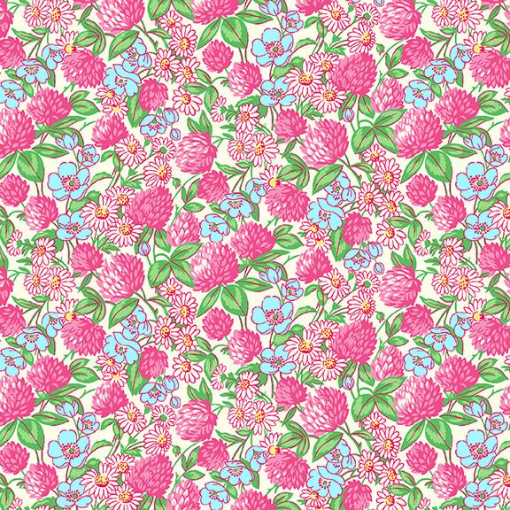 Nana Mae V -  Pink Clover and Daisies