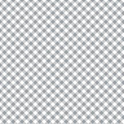 Chelea's Checks in gray and white by Priscilla Blain 9700-90 Gray