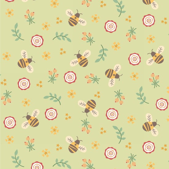 Bumble Garden 2-Ply Flannel F1399-66