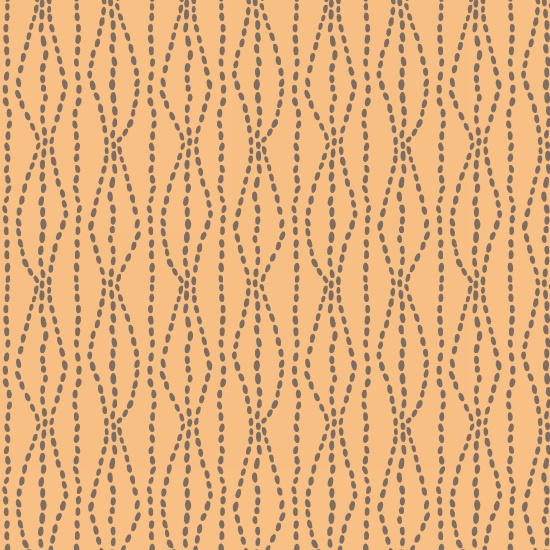 Bumble Garden 2-Ply Flannel Orange Dashed Lines