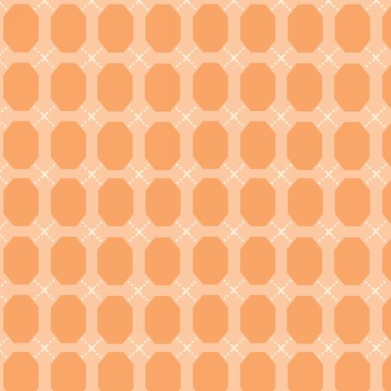 Bumble Garden 2-Ply Flannel Orange Ovals